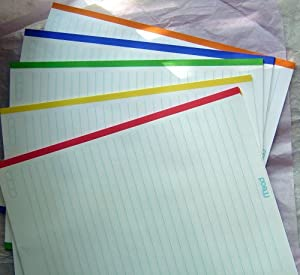 Color Bordered Notebook Filler Paper