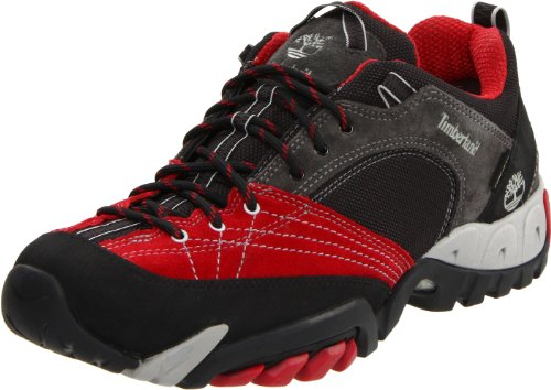 Timberland Men's Pathrock Low with Gore-Tex Dark Grey/Chilli Red Hiking Shoe 67131 13.5 UK
