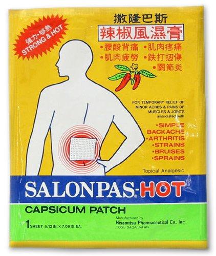 SALONPAS Hot Capsicum Patch - 10 PAK - SAVE $$$ !