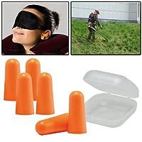 AMOS 6 Piece Soft Foam Earplugs Ear Plug Defenders Reusable Shooting Sleep Hearing Protection with Storage Case