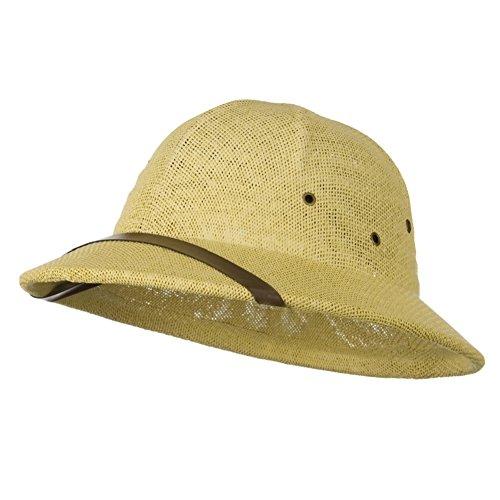 Children's Natural Tan Twisted Toyo Pith Safari Jungle Helmet Hat (Pith Helmet)