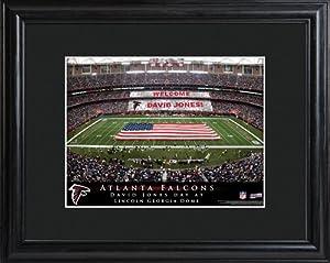 Personalized NFL Stadium Print with Wood Frame - Atlanta Falcons Stadium Print by JDS Marketind