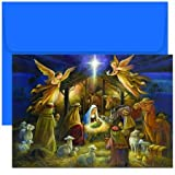 Masterpiece Studios Boxed Cards, 18-Count, A Holy Scene (798000)