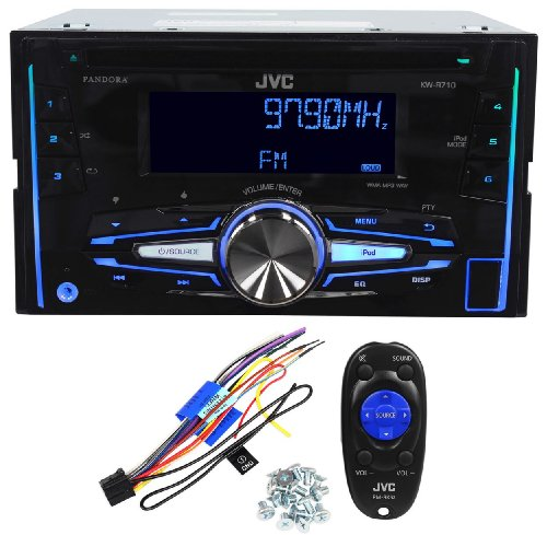 Jvc Kw-R710 In-Dash Double Din Car Stereo Cd/Usb Am/Fm Receiver Iphone/Android