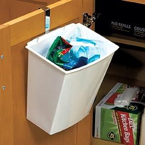 over the door cabinet small trash bin garbage can kitchen waste bins. Black Bedroom Furniture Sets. Home Design Ideas