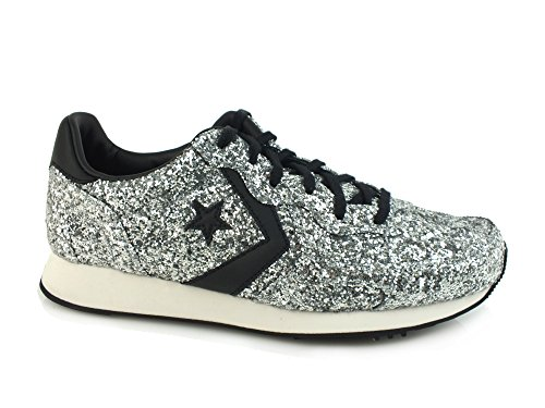 CONVERSE Auckland Racer Ox sneakers FABRIC SILVER BLACK 555086C