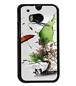 PrintVisa Plastic Multicolor Back Cover For HTC One M8 & M8