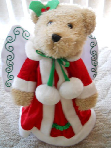 Angel Bear Christmas Tree Topper & Table Centerpiece Display - Electric