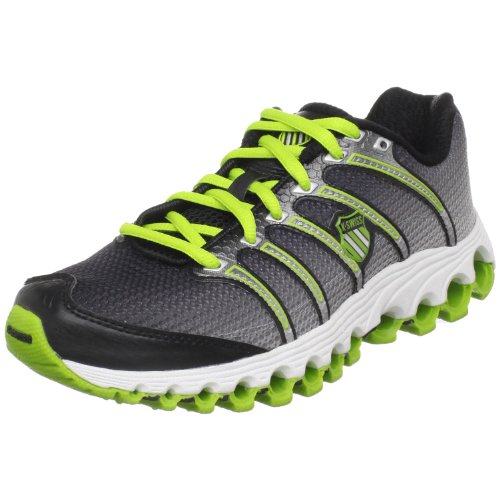K-Swiss Women's Tubes Run 100 Running Shoe,Black Fade/Bright Green,6.5 M US