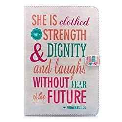 iPad Air Case, Milocos [Faith Proverbs] [Drop Protection] [Mangnetic Stand] - 31:25 Quotes Mart Folio Wake Sleep Pu Leather Case for iPad Air Devices