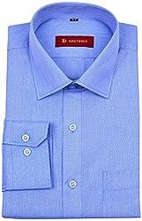 HASTINGS Men's Formal Shirt (V138_42, Blue, 42)