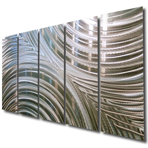Giant Silver Metal Wall Sculpture - Metal Wall Art, Silver Wall Decor - Contemporary, Modern Silver Metal Wall Art Home Decor Accent - Synchronicity By Jon Allen - 64