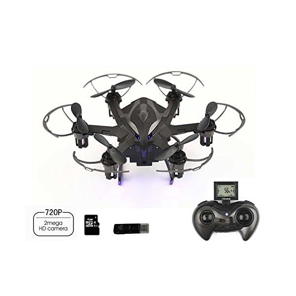 DoToy-I6s-24GHz-6Axis-Gyro-mini-Drone-nano-Rc-Hexacopter-with-2MP-HD-camera-Auto-Orientationone-button-homeward-voyage-mode