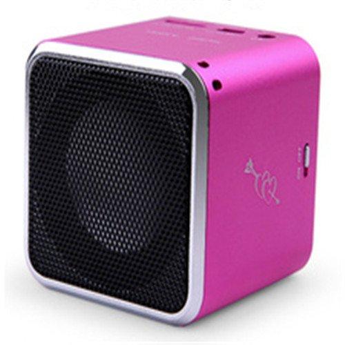 Baxia Mini Bluetooth Card Speakers (Pink)