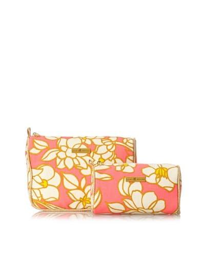 Julie Brown Women's Cosmetic Bag Set, Pink Blossom