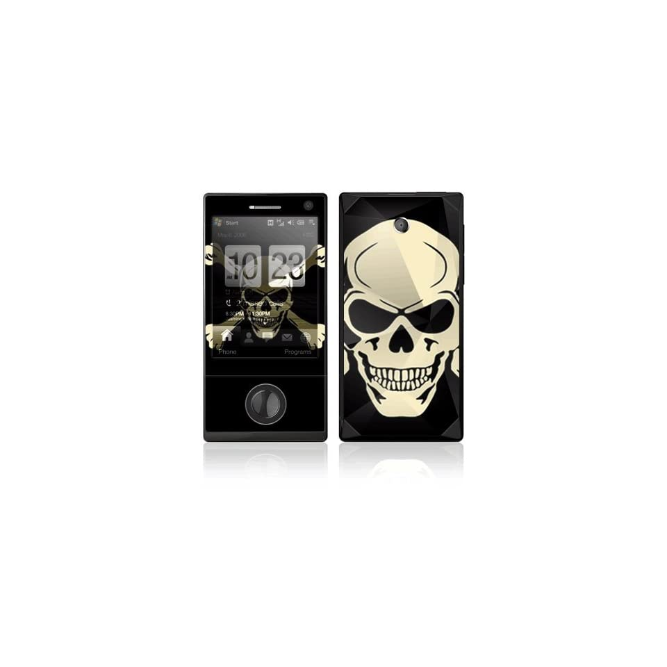 Crossbone Decorative Skin Cover Decal Sticker for HTC Touch Diamond Cell Phone