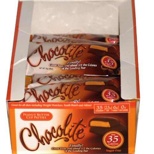 Healthsmart Chocolite Bar Peanut Butter Cup Patties -- 16 Bars