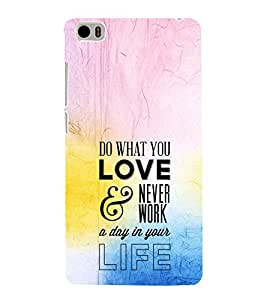 EPICCASE Do What You Love Mobile Back Case Cover For Xiaomi Mi5 (Designer Case)