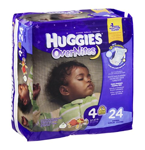 Huggies OverNites Disney Baby Stage 4 Diapers (22-37 lb) 24 CT (Pack of 4) - 1
