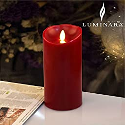 Luminara Flameless LED Candle, Flameless Real Wax Moving Wick LED Candle with Timer Control Cinnamon Scent 3.5\