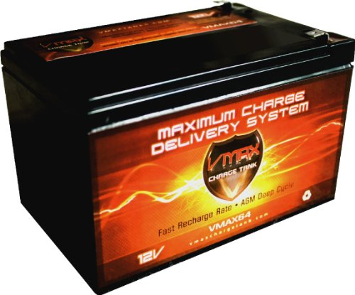 Vmaxmb64 Agm Deep Cycle Battery Replacement For Bladez Xtr Lite Electric Scooter 12V 15Ah Scooter Battery