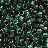 Miyuki Delica Seed Beads 11/0 Transparent Green DB713 7.2 Grams