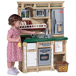 christmas review our step 2 play kitchen get it with 101 pieces of play food for 79 today - Step 2 Play Kitchen