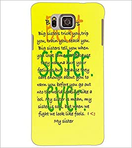 PrintDhaba Quote D-3923 Back Case Cover for SAMSUNG GALAXY ALPHA (Multi-Coloured)