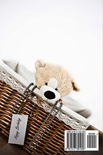 Mind Blowing Happy Birthday Basket Bear Journal: 150 page lined journal