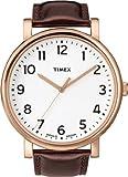 Timex Original Easy Reader Modern Heritage T2N388 AU Unisex Analog Quartz Watch with Brown Leather Strap