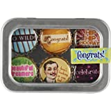 Congrats Bottle Cap 6 pc Magnet Set w/ Case