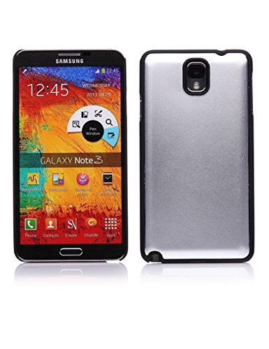 Mobile 7 Samsung Galaxy Note 3 Hard Case Cover SILVER- Retail Packaging