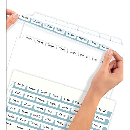 Avery index maker clear label dividers 8 5 x 11 inch 8 for 12 tab divider template