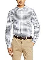 Hilfiger Denim Camisa Vestir (Blanco / Gris)