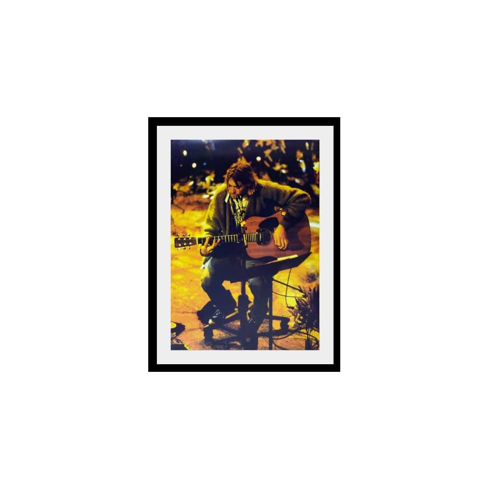 Nirvana Kurt Cobain stage poster approx 34 x 24 inch ( 87 x 60 cm)new large acoustic