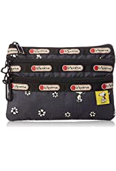 LeSportsac X Peanuts 3 Zip Cosmetic Bag