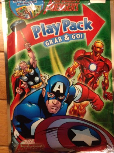 The Mighty Avengers Grab & Go Play Pack 2 Sets. Thor, Captain America. Iron Man