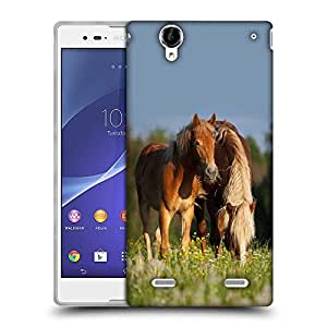 Snoogg Pair Of Horses Designer Protective Phone Back Case Cover For Sony Xperia T2 Ultra
