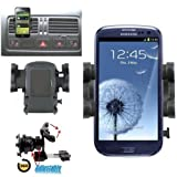 Mobilizers: In Car Air Vent Mount Holder Cradle Kit With 360° Degree Rotation Feature For All New Models Including Samsung Galaxy 3 Apollo i5800, Galaxy Ace S5830, Galaxy Ace 2, Galaxy Europa i5500, Galaxy S Advance, Galaxy S I9000, Galaxy S2 I9100, Gal