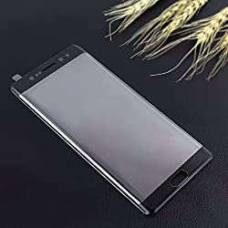 Original FING (TM) 4D Premium Quality Full Edge To Edge 9H Hardness 2.5D CURVE Tempered Glass Full Screen Protector for Samsung Galaxy Note 7 - (Black) Imported from Korea