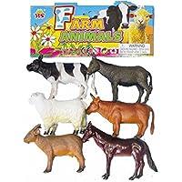 PLASTIC FARM ANIMALS TOY SIZE 11-12 CM L 6 Pcs AGE 3+ CHILD / KIDS HangShun Toys NICE SIX ANIMALS GIFT SET Farm...