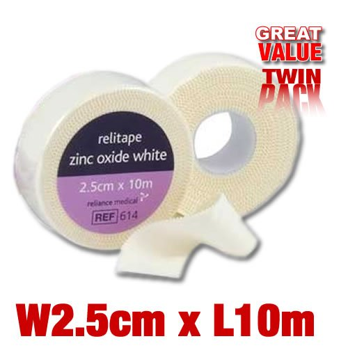 2.5cmx10m ZINC OXIDE MUAY THAI KICKBOXING BOXERS TAPE 2pk