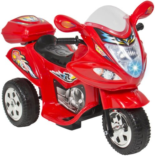 Kids Ride On Motorcycle 6V Toy Battery Powered Electric 3 Wheel Power Bicyle Red (Remote Control 18 Wheeler compare prices)
