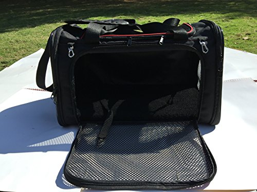 Pettall Travel Pet Carrier, Small Dog Carrier Cat Carrier, Small Animal Pet Carrier, Most Airline-approved Pet Carrier, Soft-sided Pet Carriers in Cabin Under Seat Storage, Safe Pet Carrier in Car, Sturdy Pet Carrier on Luggage