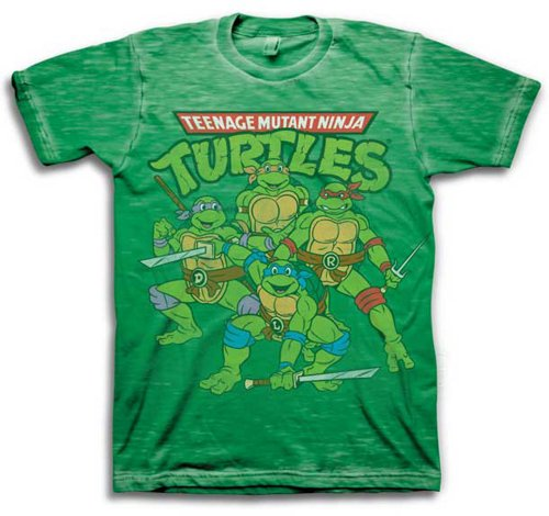 Teenage Mutant Ninja Turtles Group with Weapons Shirt (Large)