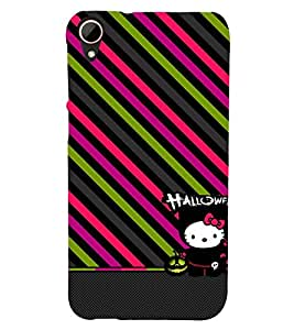animated halloween case with slanting stripes 3D Hard Polycarbonate Designer Back Case Cover for HTC Desire 828 :: HTC Desire 828Q :: HTC Desire 828S :: HTC Desire 828G+ :: HTC Desire 828 G Plus :: HTC Desire 828 Dual Sim