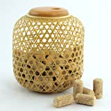 BambooMN Brand - Woven Bamboo Wine Cork Collector Display 7 - Natural