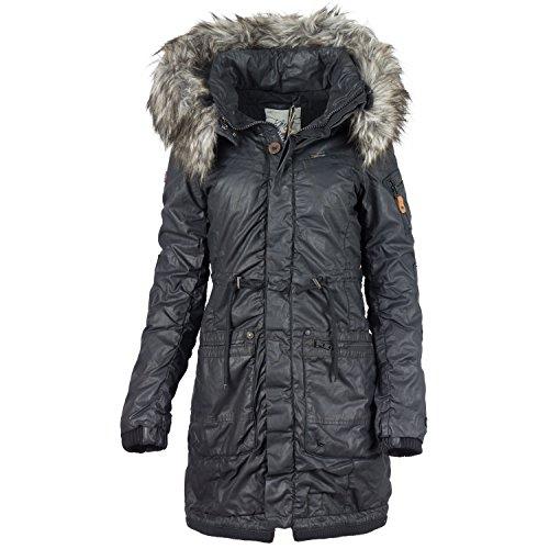 khujo -  Giacca  - cappotto - Basic - Collo mao  - Maniche lunghe  - Donna 200 nero  S