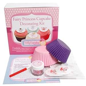 Cupcake Decorating Ideas Princess : Kit de decorations pour cupcakes avec des fees et ...