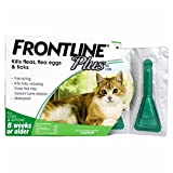 Frontline Plus for Cats Frontline Plus Flea and Tick Control Treatment for Cats and Kittens 8 Weeks or Older (3doses)